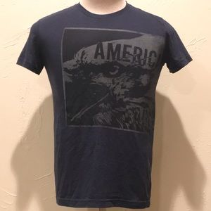 American Eagle Mens XS Navy Blue Graphic T Shirt